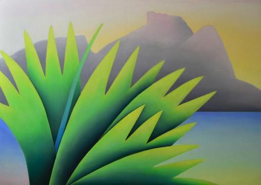 MARILIA KRANZ (1937) A Luz da barra, o.s.t. - 140 x 200 cm. Assinado e datado 1998