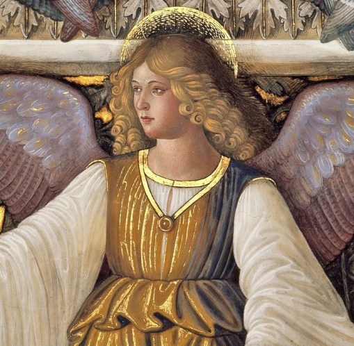 Melozzo-da-Flori-Italian-Renaissance-artist-1438-1494-Angel-from-the-Vault-of-the-Sacristy-of-Saint-Mark