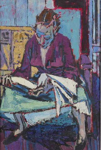 Thomas Rathmell (Welsh, 1912-1996) 'The Reader'
