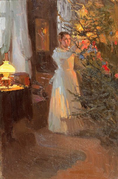 Alexei Mikhailovich Korin (1865 – 1923, Russian)the-christmas-tree