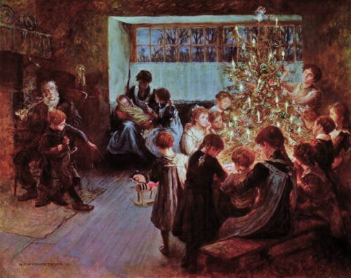 c Albert Chevallier Tayler (British painter, 1862-1925) The Christmas Tree 1911
