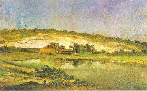 FIRMINO MONTEIRO - Paisagem de Niterói - Óleo sobre tela - 41 x 64 - 1884 - Museu Nacional de Belas Artes