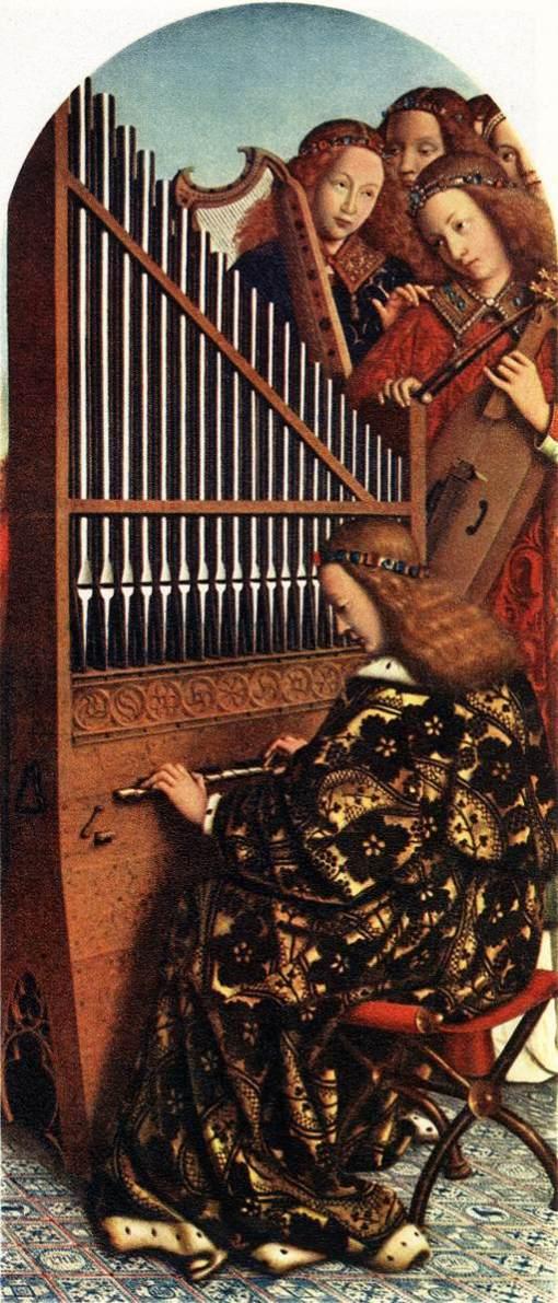 jan van eyck, anjos musicais