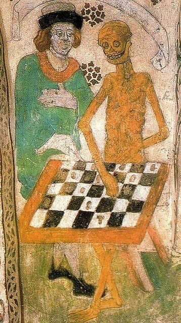jogo de xadrez com a morte