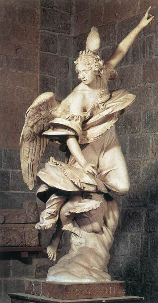 MOCHI, Francesco,Angel of Annunciation,1603-05,Marble, over life-size,Museo dell'Opera del Duomo, Orvieto