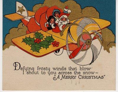 TRANSPOTE, AVIÃO vintage christmas cards