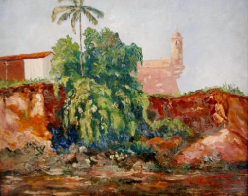 UDO - Amapá - Macapá - Óleo sobre madeira datada de 1949, 45 cm x 53 cm
