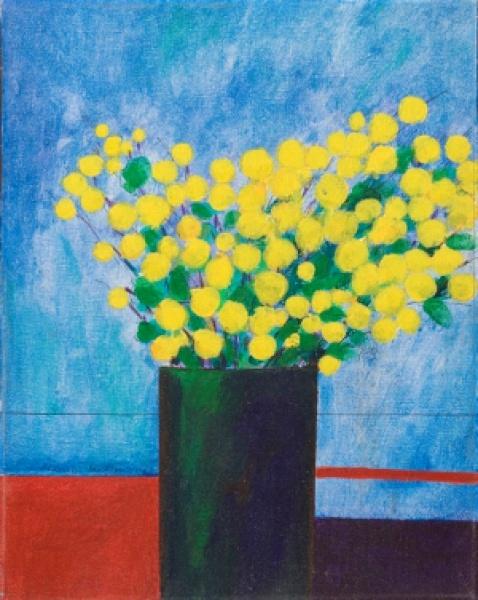 ALDEMIR MARTINS.Vaso com flores - a.s.t. - 41 x 33 cm - assinado e datado 1968 no cie.