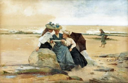 Alexander Mark Rossi (GB1840-1916)The Love Letter (1894)