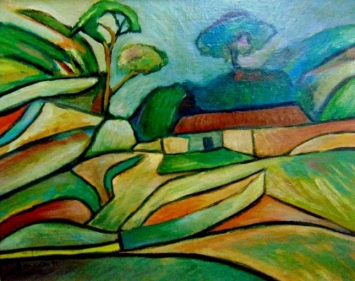 BONADEI, o.s.p. Casario, 40 x 50 cm. 1971.