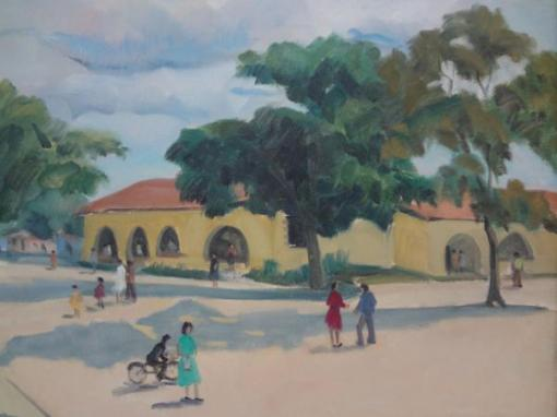 BUSTAMANTE SÁ, Rubens Forte (1907 - 1988) - Figuras no cotidiano, o.s.t. - 46 x 56 cm.