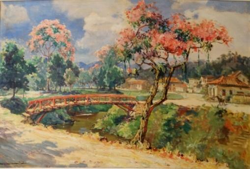 CARLOS OSWALD - Paisagem - O.S.T. - 54 x 81 cm - assinado no cie