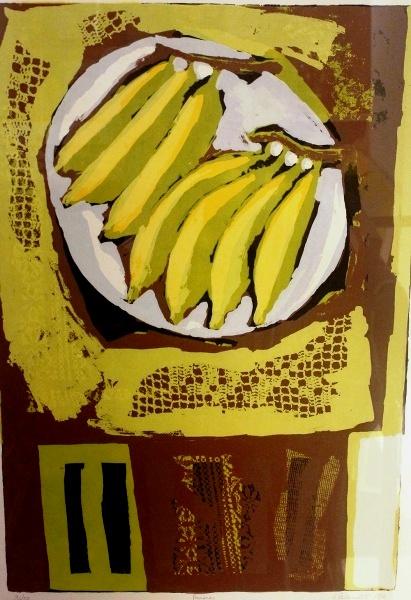 GLÊNIO BIANCHETTI, SERIGRAFIA, Bananas, 57 x 84 cm, 36-50 CID, 1992