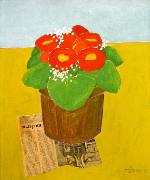 gustavo-rosa, vaso com planta, 1992, ost