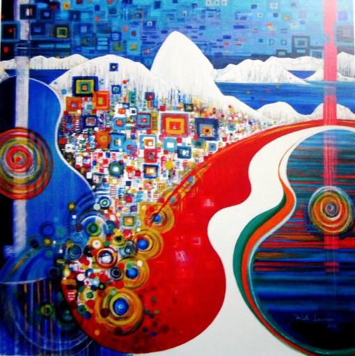 Isabela Francisco (Brasil, 1960) Bossa Nova, tec mistast, 180 x 180cm