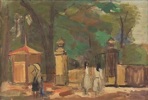 Mario Zanini,Parque da aclimaçãodec 1940,ost, 33 x 46 cm.