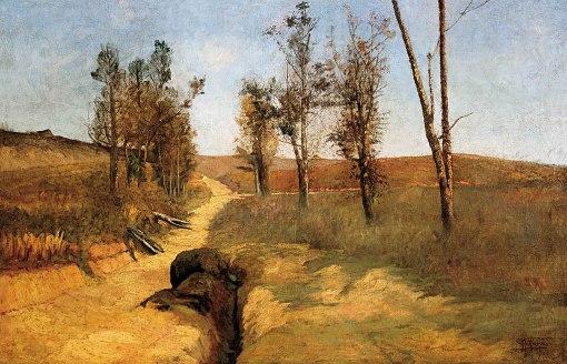 PARREIRAS, Antônio,Paisagem,óleo s tela, ass. e dat. 1900 inf. dir., 69 x 105 cm