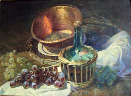 Rafael Falco (Argelia-Brasil, 1885-1967), Natureza morta, ost, 44x 36cm, Col. Part. Fabiano Wolff