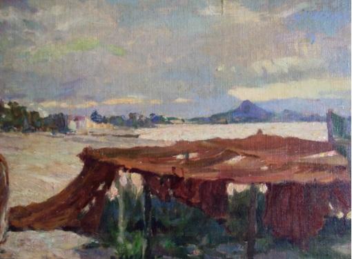 Rafael Falco (Brasil, 1885-1967), Piçarras, otcp,30 x 20 cm, Col. Part. Fabiano Wolff
