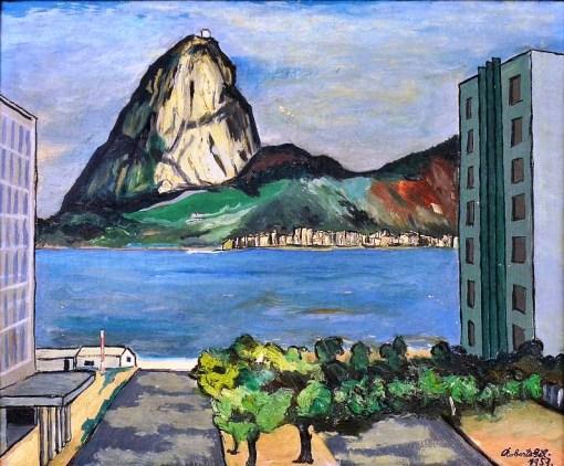 ROBERTO GIL - Paisagem do Rio de Janeiro, óleo sobre tela, 38X46cm. Assinado 1957,