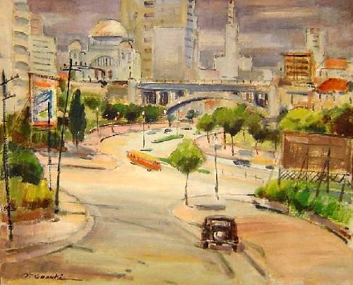 TAKESHI SUZUKI viaduto Santo Antônio, SP, ost, 1951