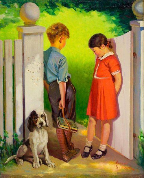 amor, romance, Russell Sambrook (1891 – 1956)