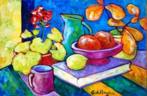 Ana Goldberger, `Um Limão Ciciliano` – ast. – med. 40 x 60 cm