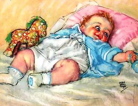 Bebe acordado, maud Tousey Fangel