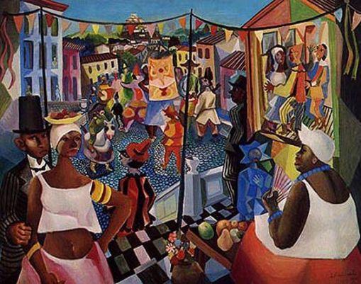 Di Cavalcanti carnaval II ost 114 x 146 cm 1965