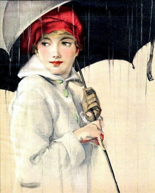 Dia chuvoso, Cover illustration of the Sunday Magazine of the Minneapolis Journal (February 28, 1915)