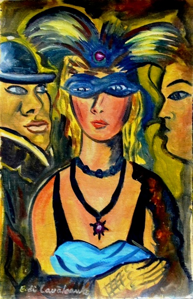 Emiliano Di Cavalcanti, Carnaval - osc. - med. 30,5 x 20 cm