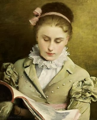 Jacquet-Gustave-Jean-1846-1909-Attentive-reading
