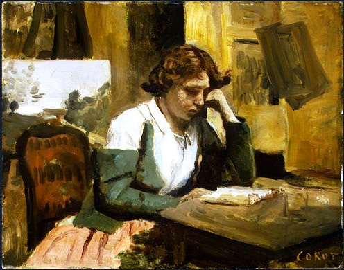 Jean-Baptiste-CamilleCorot, Young girl reading, 1868, National Gallery of Art, Washington, DC (2)