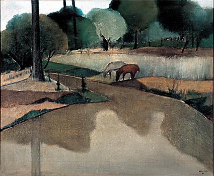 José Pancetti, Beira do lago, 1944, ost, 54x65