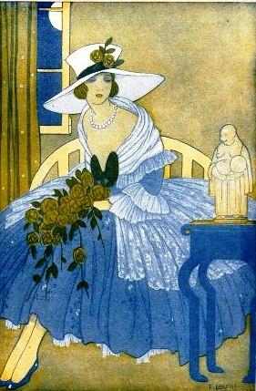 moça com chapéu sentada, buda,Fabius Lorenzi