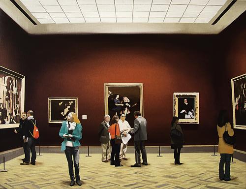 Nicholas Chistiakov, O salão vermelhoIV, 2013, ost, 45x60cm, ColPart, GB