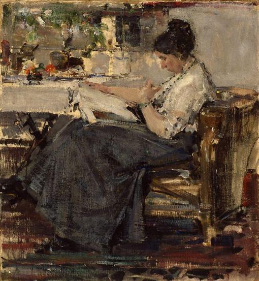 Nicolai Fechin, Portrait of N. V. Sapozhnikova