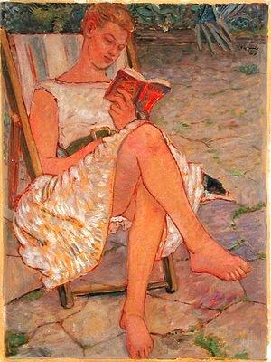 Peter Samuelson, 1959, Bridget lendo
