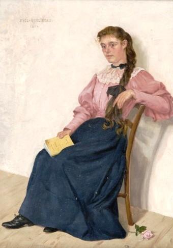 Abel Boulineau Auberive, França,1839 -), 1934 La lectrice Huile sur toile, leilão