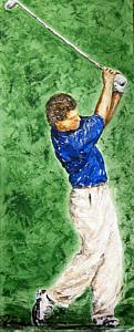 Bia Betancourt [Beatriz Falanghe Betancourt] (Brasil, 1963) Golfista, ast, 70 x 180 cm