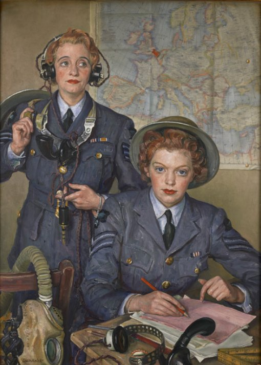 Corporal Elspeth Henderson and Sergeant Helen Turner, 1941 by Laura Knight