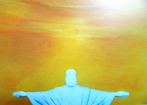 Cristina Orensztajn (Brasil, 1957) Rio, um novo amanhecer,tec mista, 100 x 140cm