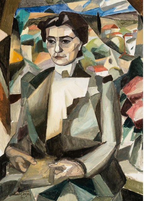 GLEIZES, ALbert, Portrait-of-Madame-H.-M.-Barzun-by-Albert-Gleizes-1881-1953,data 1911, The McNay Art Museum, San Antonio, tx
