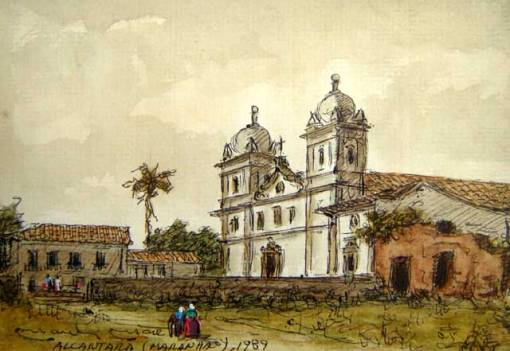 Manlio Moreto, Alcantara, Maranhão, 1989, aquarela, 13x19