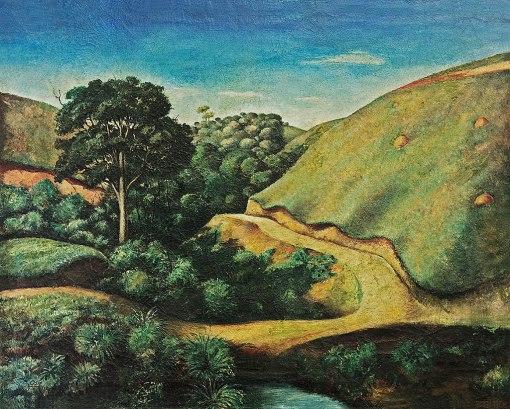 PAULO ROSSI OSSIR,Paisagem Interiorana,óleo s tela, 1936,64 x 79,3 cm