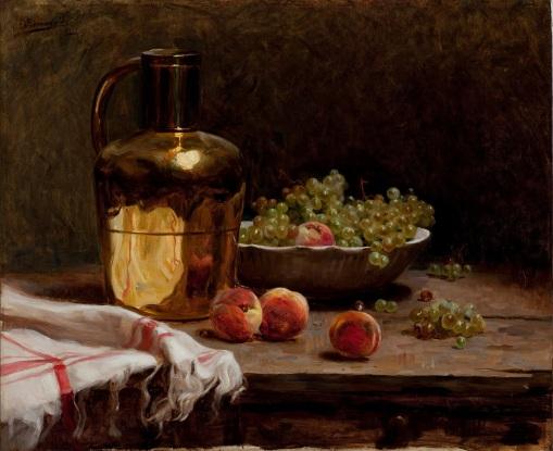 Pedro_Alexandrino_-_Uvas_e_pêssegosPedro Alexandrino, PESP, Uvas e pêssegos,óleo sobre tela, 60 X 73