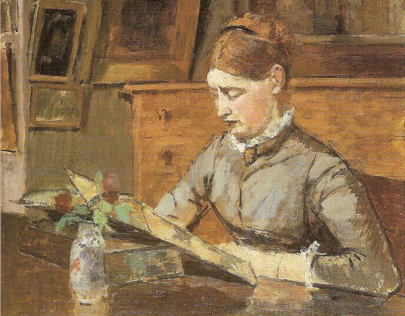 rouart-helene-leyendo-Stabislas Henri Rouart (1833-1912), francés.