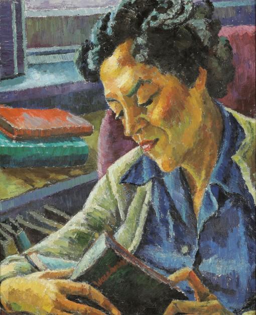 Trude Waehner (Áustria, 1900-1979), Margret Grump,ost,61 x 50 cm