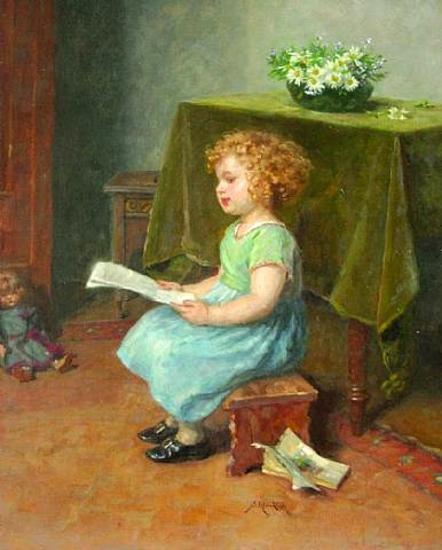 a-good-read, Simon Glücklich (1863 – 1943, Polish-born German)