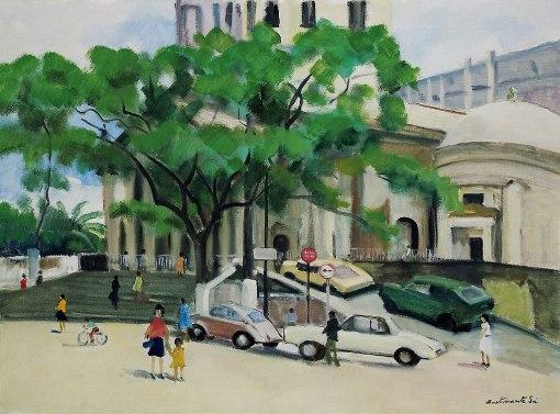 BUSTAMANTE SÁ, Rubens Forte, Largo do Machado, RJ, ost,(década de 1960),54 x 73 cm